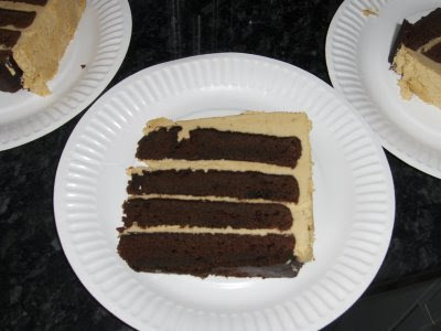 Yankee in England: Yank Bakes Mile High Devil's Food Cake ...