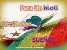 Premio para un blog de colores y sueños.