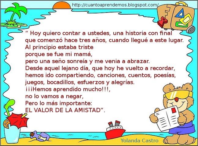 Poemas De Despedida Para La Maestra