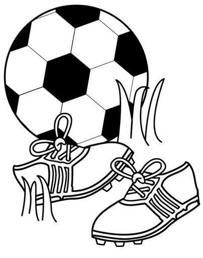 Imagenes Infantiles De Futbol Para Imprimir - Dibujo de fútbol para colorear Dibujos para colorear de