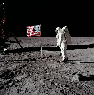 U.S. Flag on the Moon, Apollo 11. Click for larger image