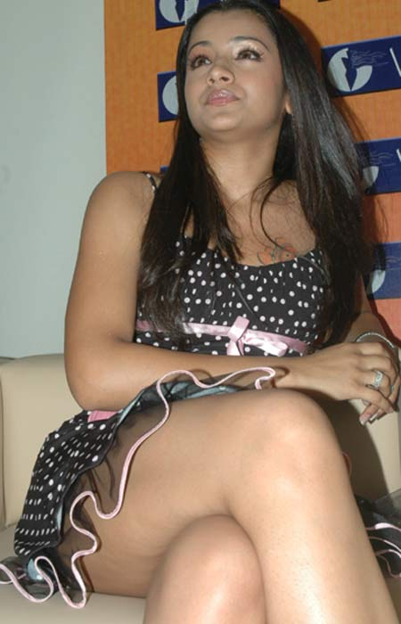 Trisha Sexy Thighs and Panty Show