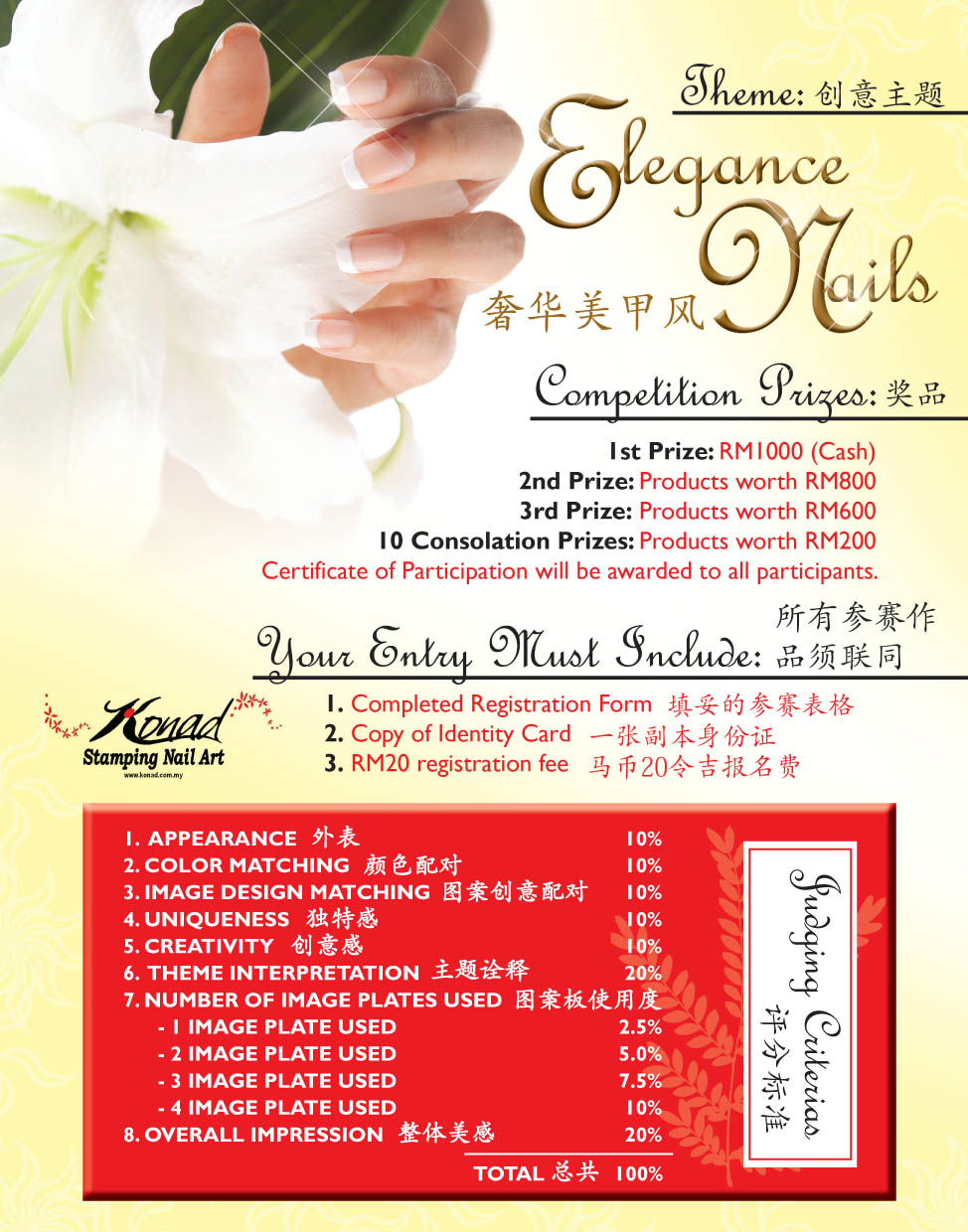 Nail Salon Flyer Konad stamping nail art