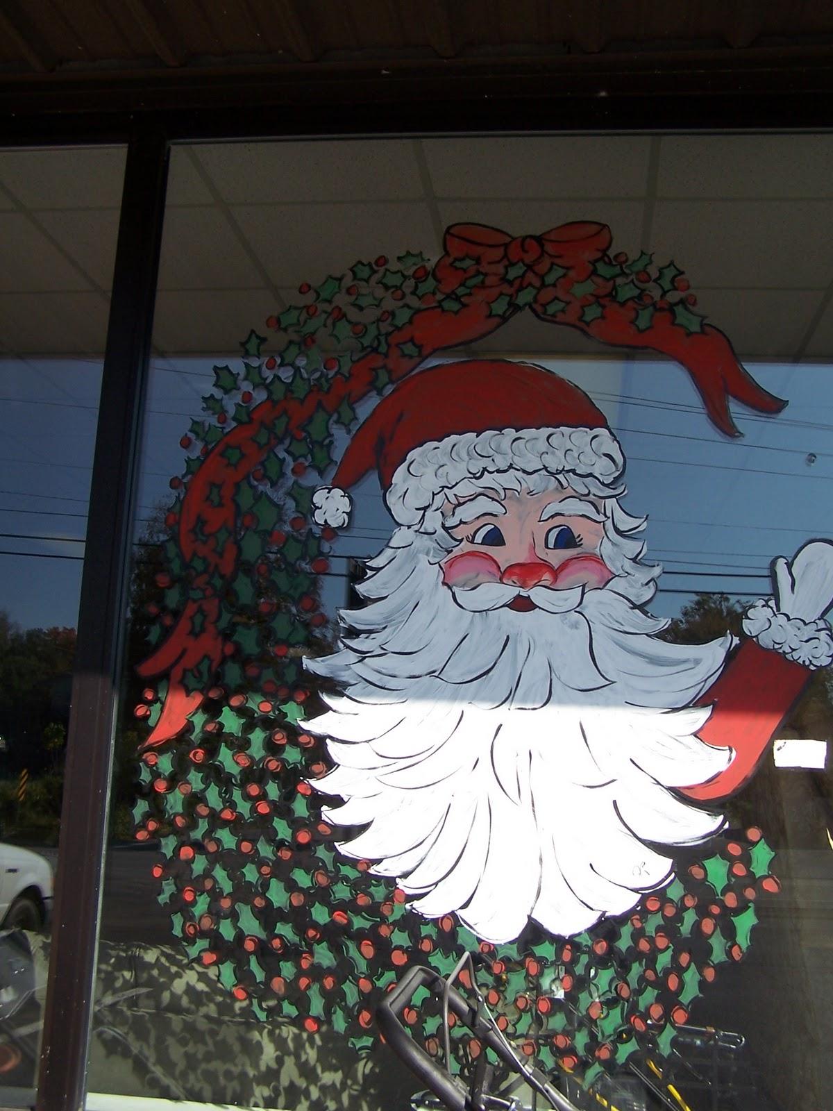 Paintings Scenes Through Windows Paint The Christmas Scenes