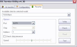 Resetear contadores de impresión Epson Stylus C45