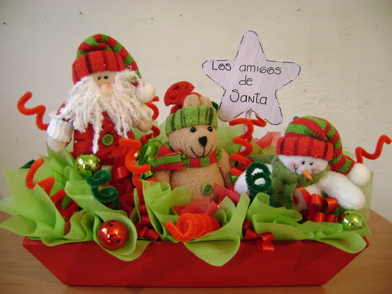 Arte gryss adornos navide os - Adornos de mesa navidenos ...
