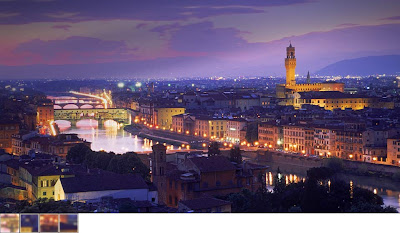 Bing Wallpaper Florence, Ponte Vecchio Duomo cathedral on Arno River in Florence, Italy