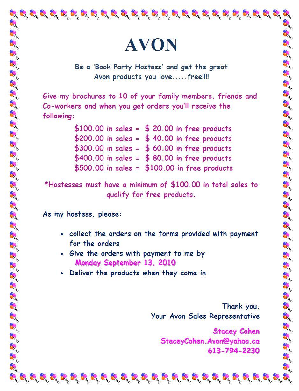 Avon party invitations avon flyers templates pictures to pin on pinterest pinsdaddy saigontimesfo