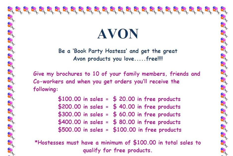 Avon Party Invitations