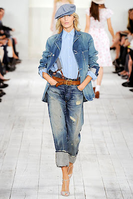 faded, torn oversized jeans from ralph Lauren spring 2010