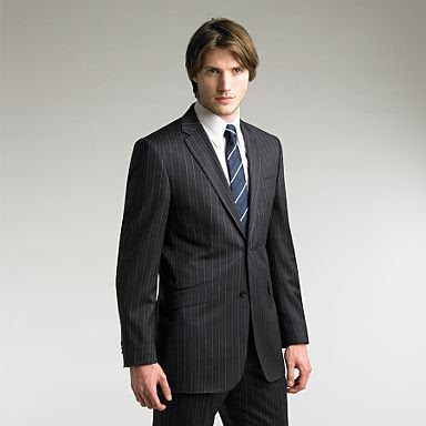men's pinstripe suit, interview suit