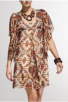 tribal print dress, kaftan dress