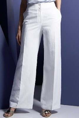 linen and silk white trousers, ladies white trousers, summer must have