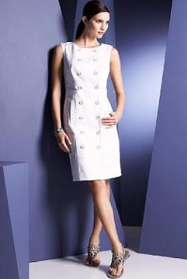 military button dress, summer dress, white cotton dress