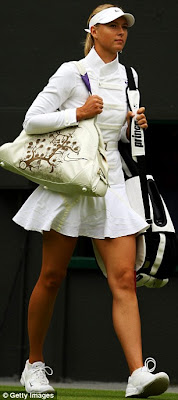 fashion at wimbledon 2009, maria sharapova in military style jacket
