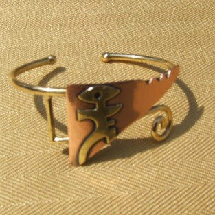 ethnic and tribal jewellery, copper bracelet, modern man bracelet