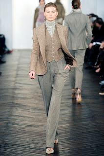 tweed suit by Ralph Lauren
