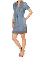 Tommy Hilfiger frilled denim dress,Ruffle Dresses, Frill Dresses