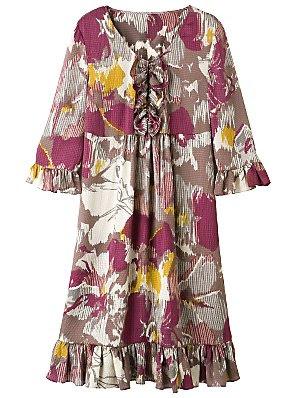 Jl silk frill dress, frills and ruffles dresses