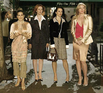 The Sex and the City Girls - Charlotte, Miranda, Carrie and Samantha on a night out