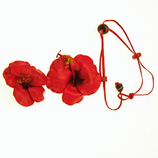 flower jewellery,leather jewellery,leather necklace