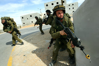 Israeli soldiers training in a dummy city