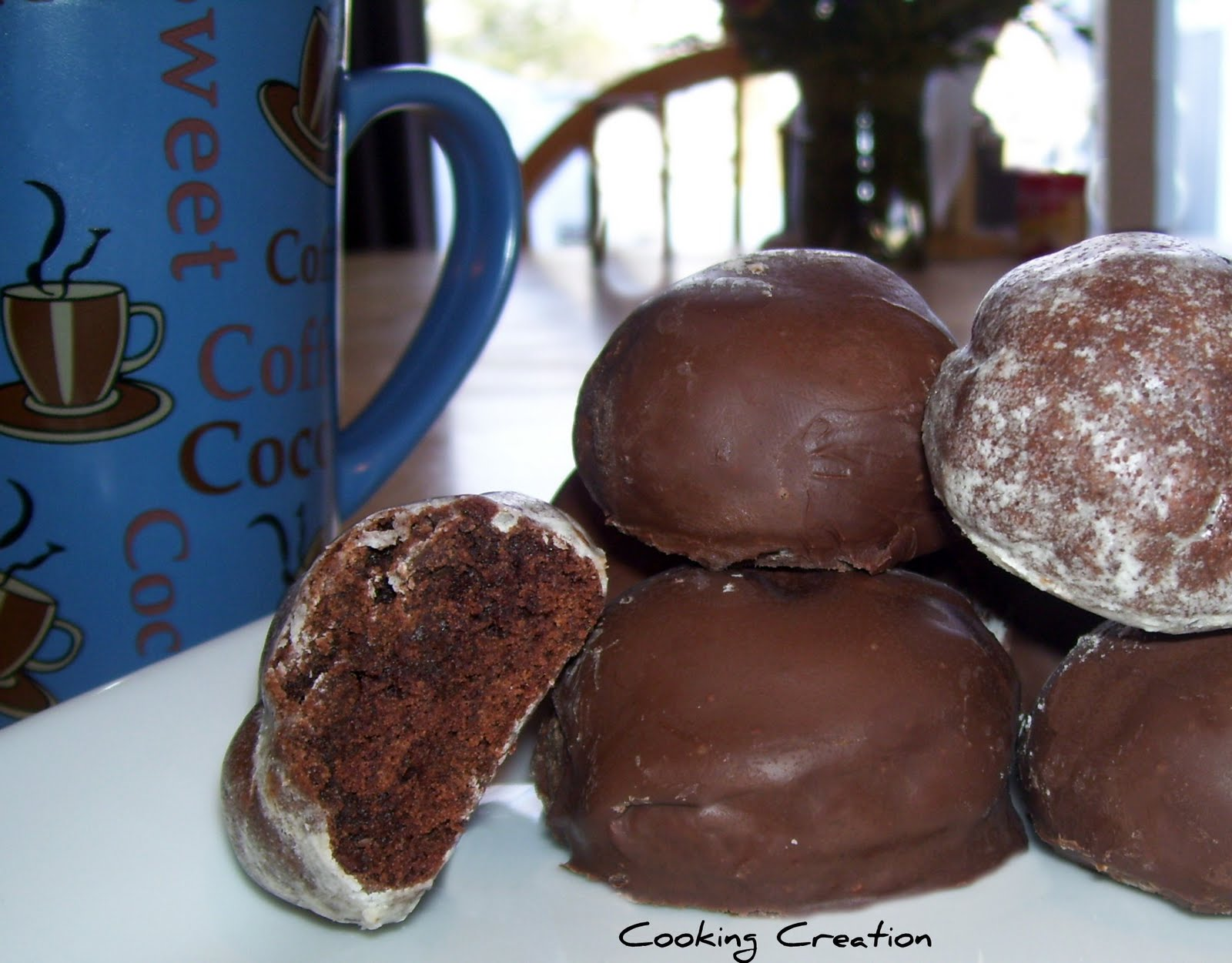 Cooking Creation: Chocolate Doughnut Holes in Vanilla Glaze