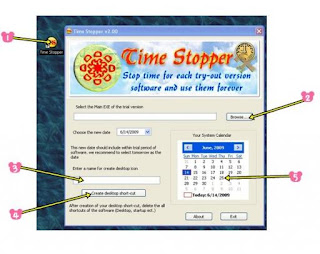 Cara Menghentikan Waktu Trial Software | Time Stopper