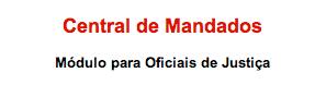 - LINK DE ACESSO À CENTRAL DE MANDADOS DO TRT/2