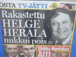 Helge Herala kuoli, mutta koska kuolee ryssäläinen stalinistimafia mikä myös demlamafiana tunnetaan