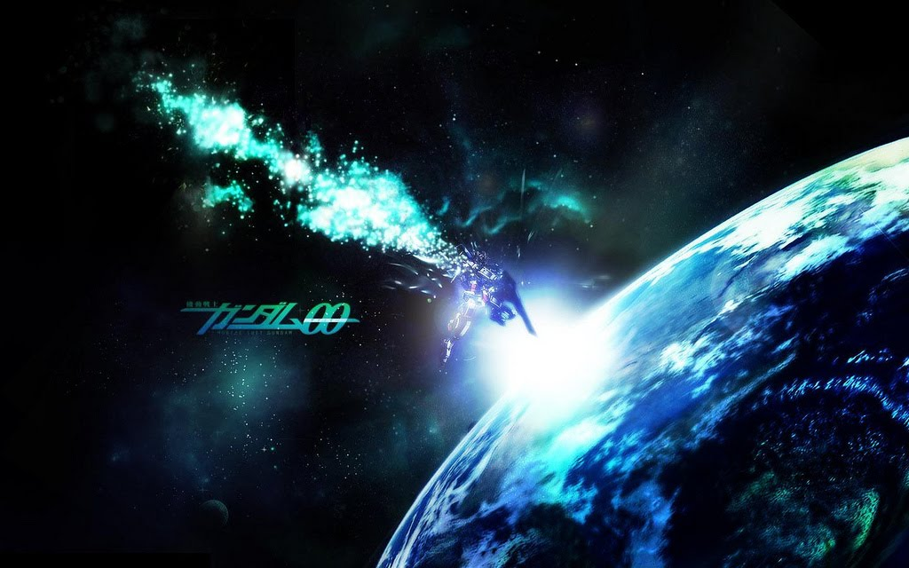 This is the simple wallpaper Gundam 00. The wallpaper figures Gundam Exia