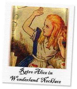 retro alice in wonderland necklace