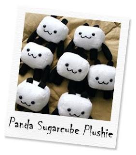 panda sugarcube plushie