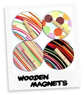 retro wooden magnets