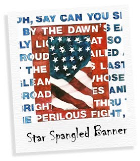 star spangled banner watercolor