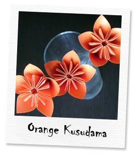 orange kusudama flowers