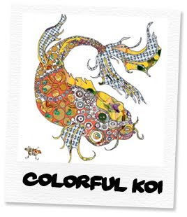 colorful koi