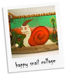 happy snail collage