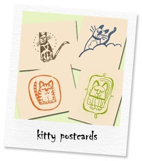 kitty postcards set of 4