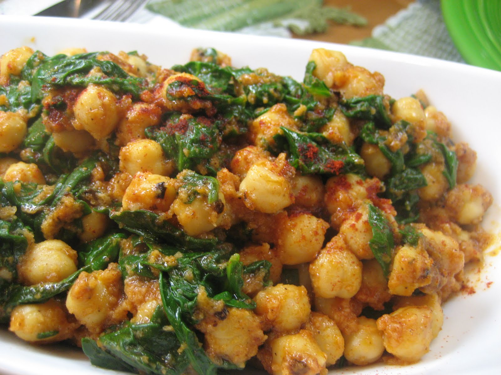 Elizabeth's Dutch Oven: Spinach and Chick Peas