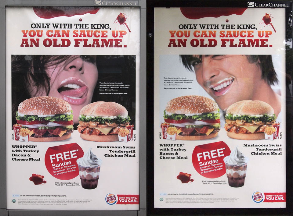 Burger King sauce up old flame ad