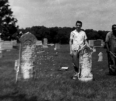 John W. S. & Mary Jane Lander's stones in 1958