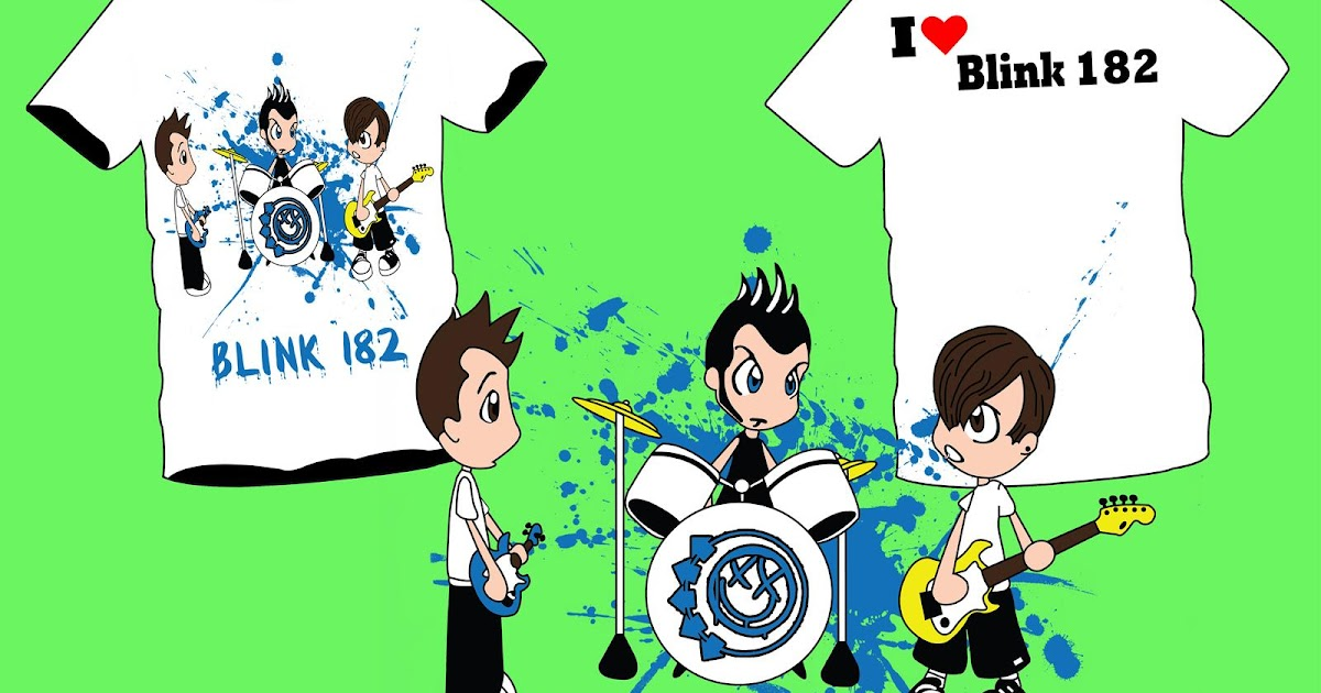 [Pre Order] Kaos Pop Art Blink 182 Cartoon