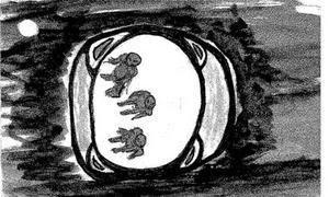 bebe extraterrestre alien rapto dibujo