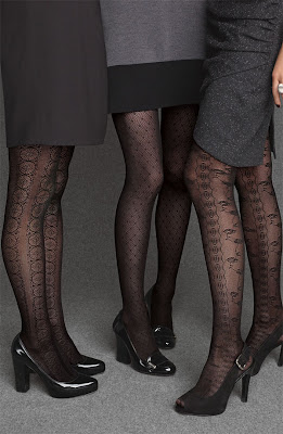 Silky Diamond Patterned Opaque Tights - Eves Legwear