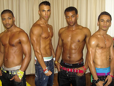 JB, Marvin, Oritse and Anton - collectively known as JLS, show off their