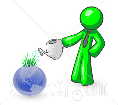 Earth symbolizing someone caring for the environment clipart illustrat