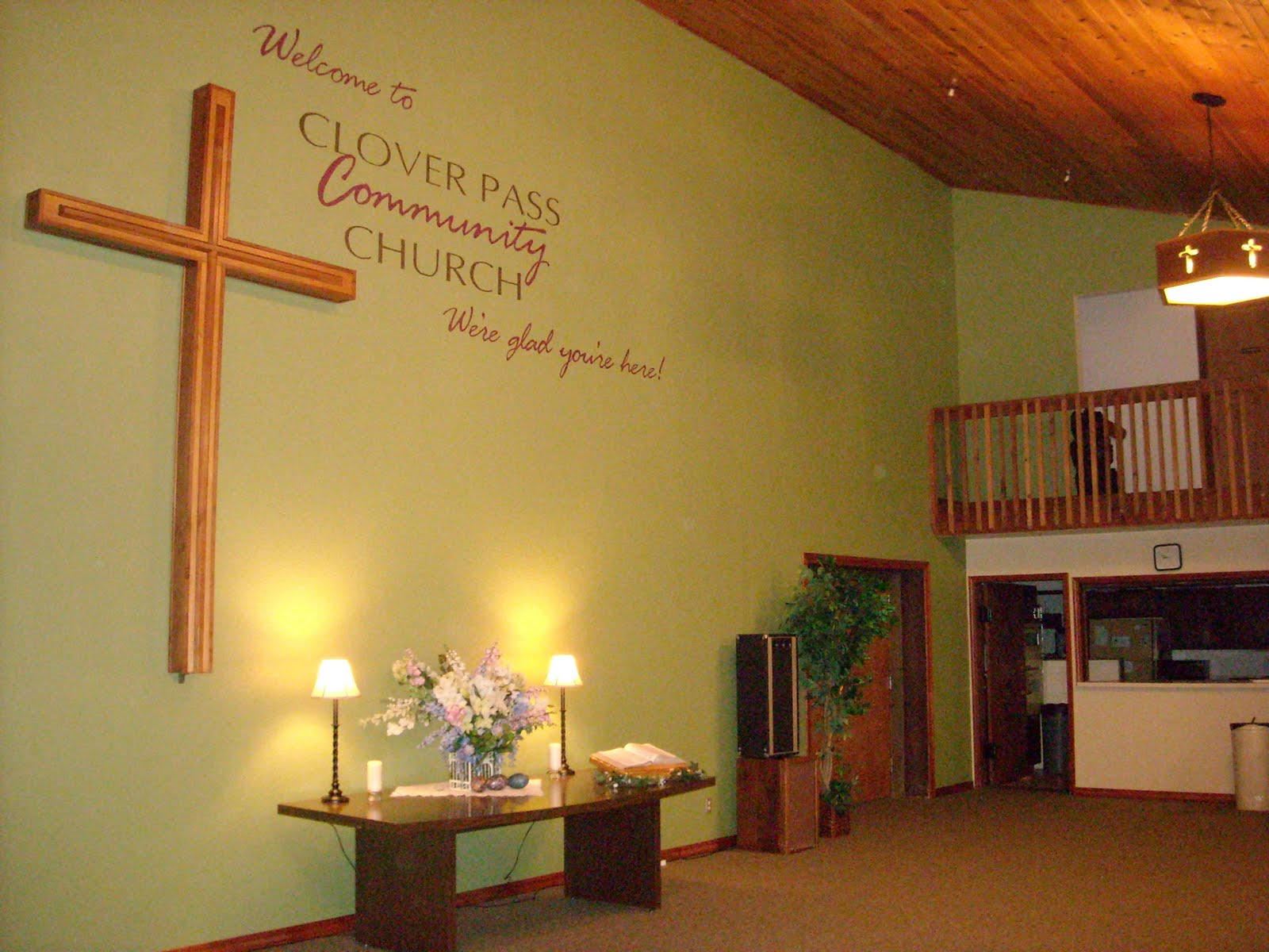 Small Church Foyer : Meadow s happiness more colorful church foyer