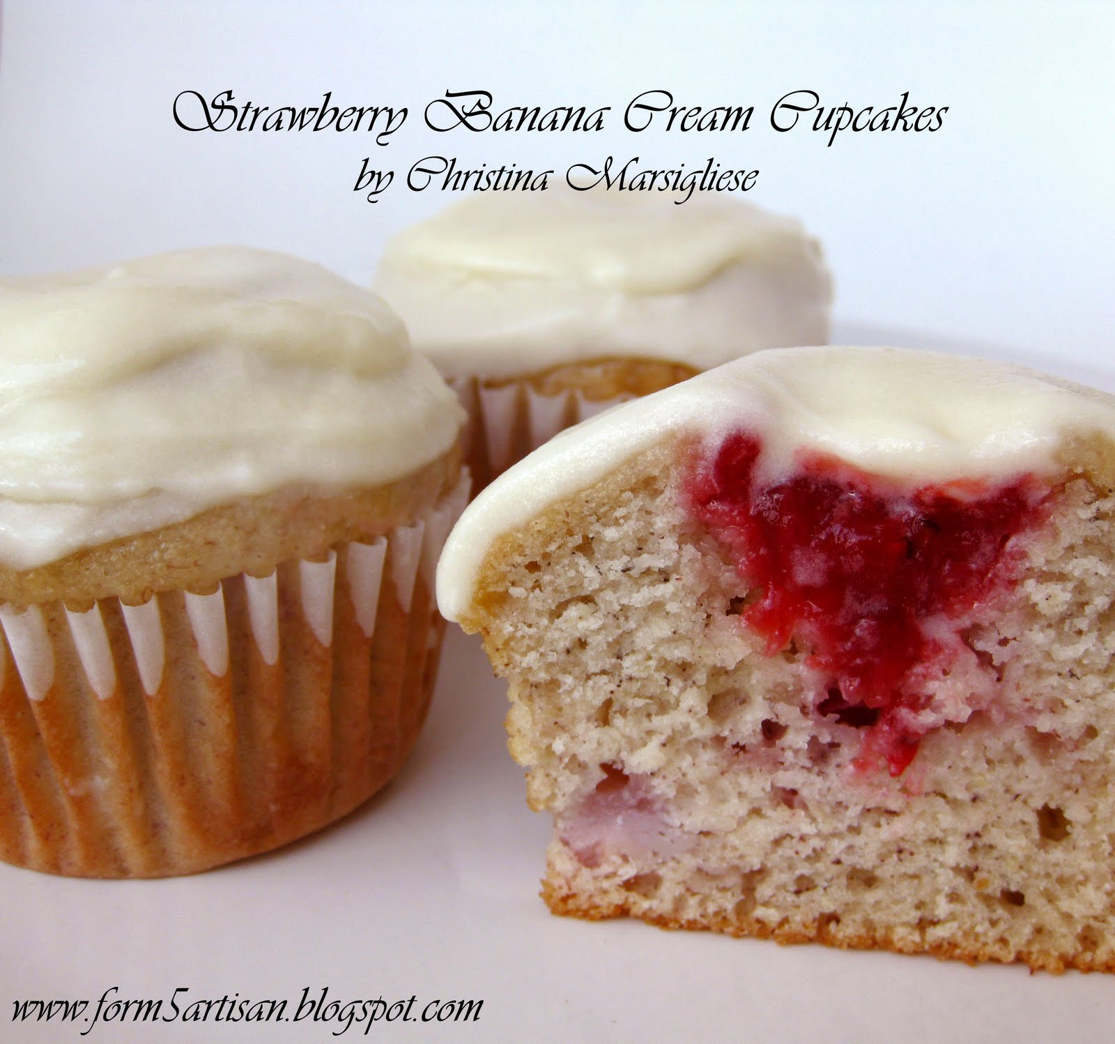 Scientifically Sweet: Strawberry Banana Cream Cupcakes