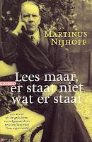 Afbeelding van omslag boek Nijhoff-Lees maar, er staat niet wat er staat
